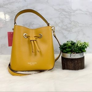 Kate Spade♠️ Yellow Bucket Bag
